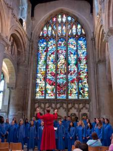 The MFUMC Youth Choir singing at Christ Church Cathedral.
